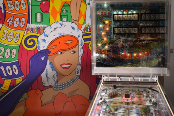 Visible Pinball Surf Champ with New Mural