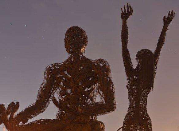 more burning man sculpture